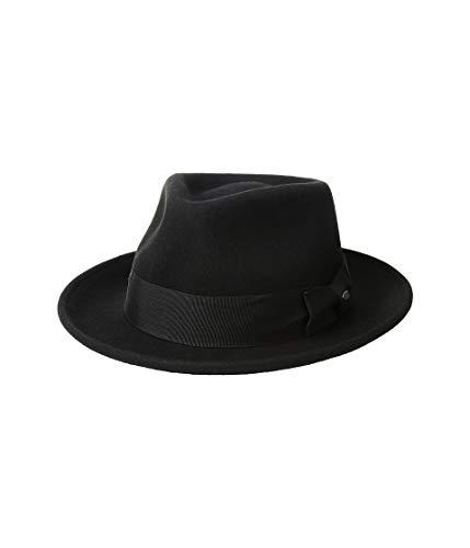 - Scala Classico Men's Crushable Water Repelant Wool Felt Fedora Hat, Black, Large