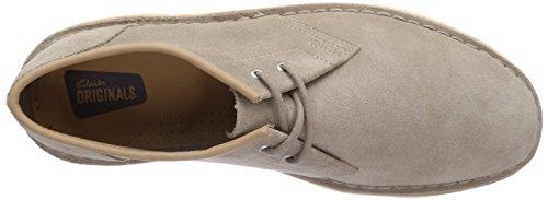 Clarks Jink - zapatos con cordones de cuero hombre Beige (Sand Suede)