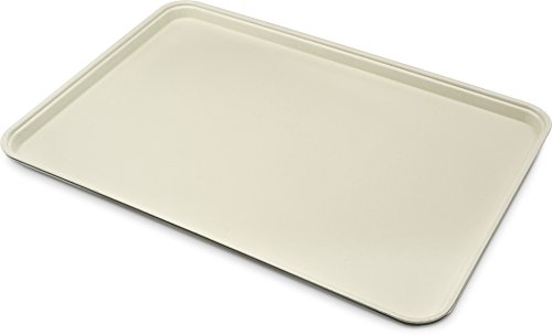 Carlisle Glasteel Display - Carlisle (2618FGQ095) Glasteel Display/Bakery Trays, Set of 6 (25 5/8-Inch x 17 7/8-Inch x 1 1/4-Inch, Fiberglass, Almond, NSF)