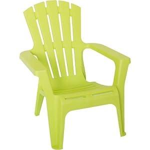 Heavy Duty Plastic Adirondack Chair, Green