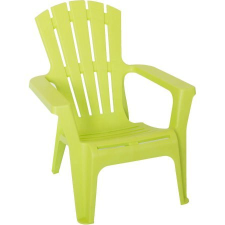 Heavy-Duty Plastic Adirondack Chair, Green (Green Plastic Outdoor Chairs)