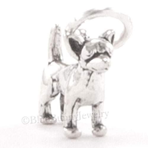 Tiny 3D Chihuahua Dog Bracelet Charm Pendant 925 Sterling Silver Very Small Mini DIY Crafting by Wholesale Charms