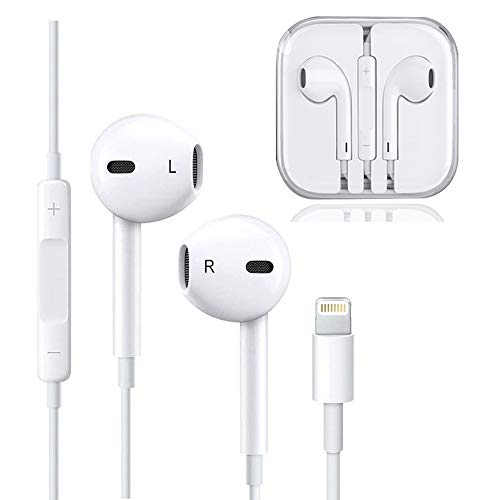 Earphones, Headphones with Microphone Earbuds Stereo Headphones and Noise Isolating Headset Compatible iPhone 7/7 Plus iPhone8/8Plus/iPhone X iPad Earphones, Support All System by ZestyChef