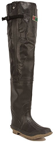 Gander Mountain Hip Waders Rubber, Size 12, Brown