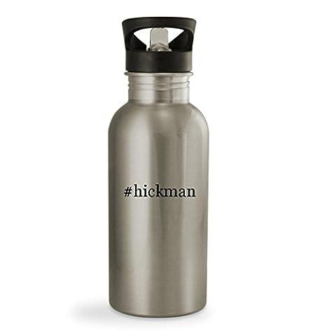 #hickman - 20oz Hashtag Sturdy Stainless Steel Water Bottle, Silver (Alex Hickman)