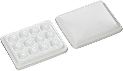 Price comparison product image Jack Richeson 12-Well Porcelain Mini Mixing Tray Palette with Cover