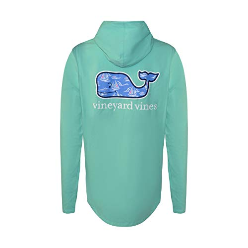 Vineyard Vines Womens Long Sleeve Hooded Tee Shirt (Capri Blue Sailing Whale, X-Small) from Vineyard Vines