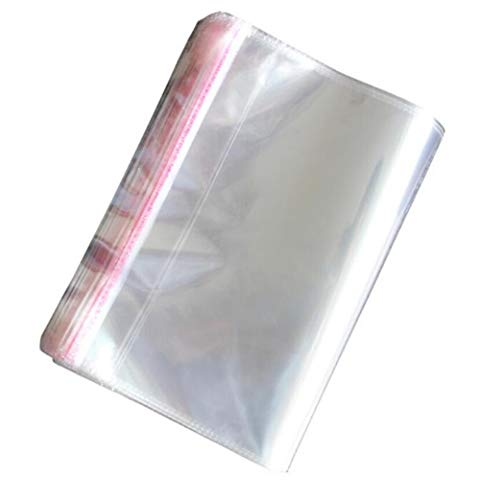 - 100PCS Transparent Clear Self Sealing Flat Cello/Cellophane OPP Plastic Packaging Bag PE bags For Clothing Store T-shirt Storage Envelope Electronic Sample Gift Card Wrap(8x12 inch/20x30cm)