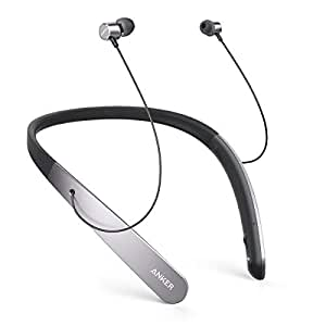 Anker SoundBuds Life Wireless Lightweight Neckband Headphones, Professional Bluetooth Headset, IPX5 Water Resistant Earbuds with Noise Cancelling Technology, Built-in Mic and 20h Playtime
