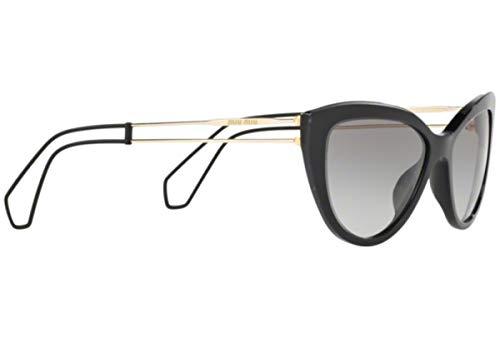 - MIU MIU COLLECTION 12R Black Gold Wire Sunglasses