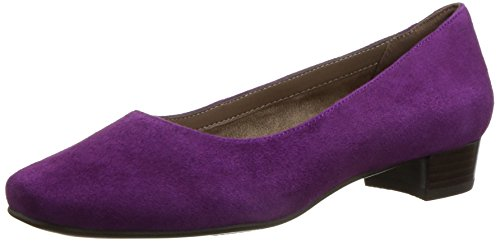 Aerosoles Women's Subway Dress Pump, Purple Suede, 6 M US (Shoes Women Purple)