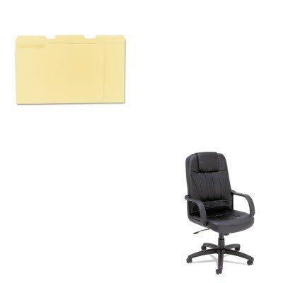 High Back Executive Glove - KITALESP41LS10BUNV12113 - Value Kit - Best Sparis Executive High-Back Swivel/Tilt Chair (ALESP41LS10B) and Universal File Folders (UNV12113)