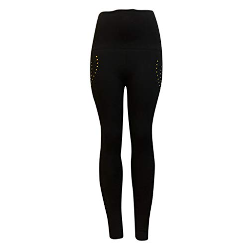Pervobs Women Casual Comfy Stretchy High Waist Pants Solid Skinny Sports Yoga Leggings Pants Trouser(M, Black) by Pervobs Women Pants (Image #5)