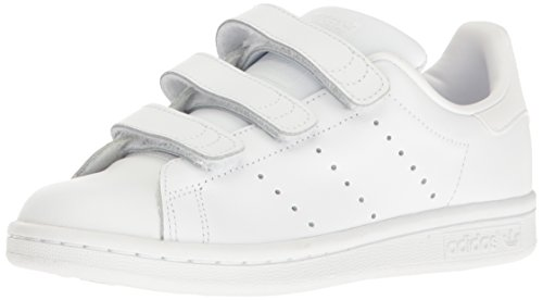 adidas Originals Boys' Stan Smith CF J Running Shoe, White, 5 M US Big Kid