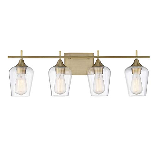 - Savoy House Octave 4 Light Bath Bar 8-4030-4-322 in Warm Brass