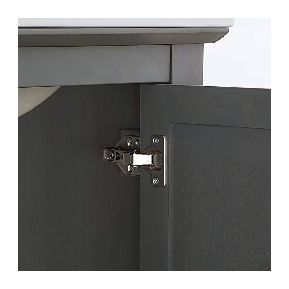 """Fresca Manchester 30"""" Gray Traditional Bathroom Vanity - Dimensions of Vanity: 29.5""""W x 18""""D x 34""""H Vanity Materials: Solid Wood Frame with MDF Panels Countertop/Sink Materials: Integrated Ceramic Sink - bathroom-vanities, bathroom-fixtures-hardware, bathroom - 31UIHhxhOoL. SS570  -"""