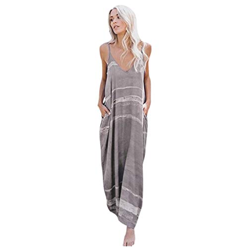 Maxi Dresses for Women, Casual Summer Sunflower Maxi Dress Strappy Irregular Hawaiian Boho Hippie Dress by BOLUBILUY ()