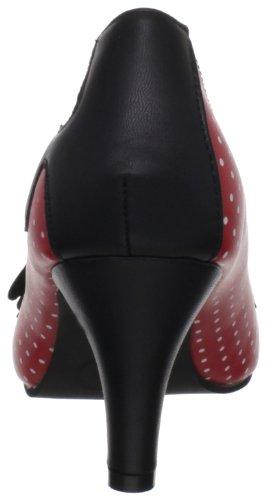 sintético Rouge Zapatos de de Sweet Mujer material Polka Black TUK Rojo Red Vestir Jane RZ4vf