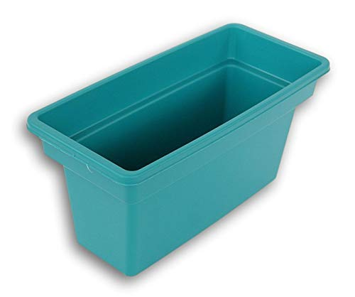 Teal Blue Ice Cube Bin - 12.25 x 5.5 x 6