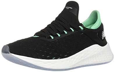 New Balance Men's LAZR Knit Fresh Foam LazrV2 HypoKnit Running Shoe, Black/Green, 7 US