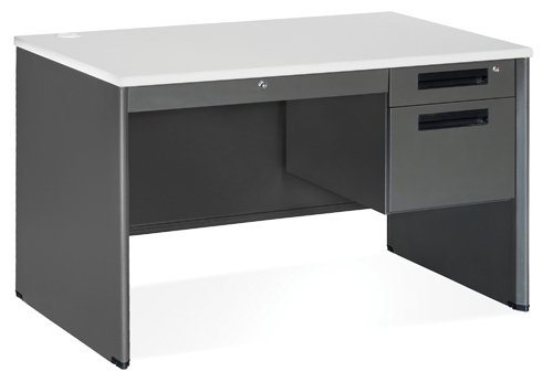 Ofm Compact Single Pedestal Desk Overall Dimensions: 47.25