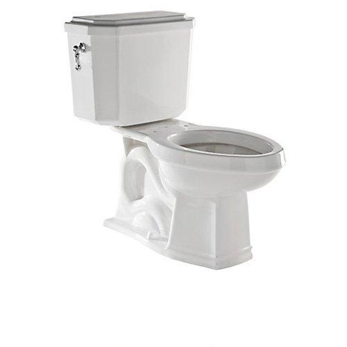 Rohl U.KIT132-APC Deco 1.6GPF Elongated Toilet with 12'' Rough in and Flush Lever, Polished Chrome by Rohl