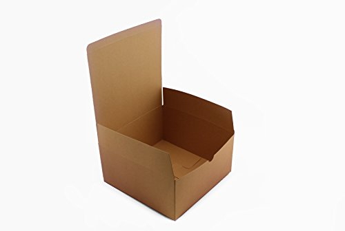 Adorox 10 Pack 8 X 8 X 4 inches Kraft Boxes Cardboard Gift Box with Lids for Wedding Birthday Holiday Baby Shower Favor (Brown, 8 X 8 X (Brown Gift Box)