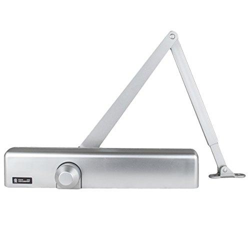 Global Door Controls Slimline Heavy Duty Commercial Door Closer in Aluminum - Sizes 1-6