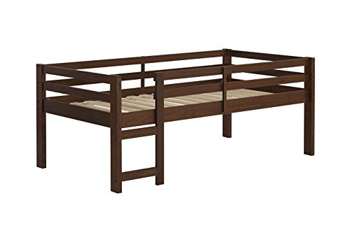 (Walker Edison Furniture Company Solid Wood Low Loft Bed - Walnut)