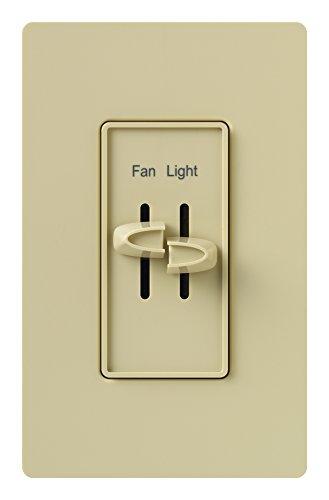 Lutron Skylark Fan Control and Light Dimmer for Incandescent and Halogen Bulbs, Single-Pole, S2-LF-AL, Almond