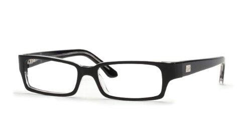 Price comparison product image Ray-Ban Men's Rx5092 Rectangular Eyeglasses, Top Black & Transparent, 52 mm