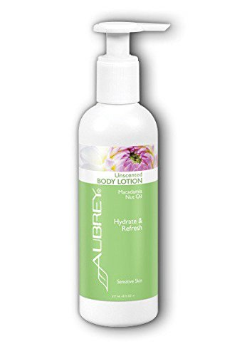 Aubrey Organics Unscented Body Lotion All Natural Moisturizer Gluten Free With NO COMPETING SCENT - 8oz