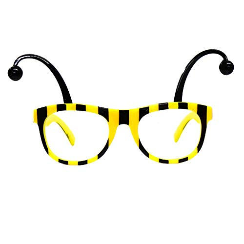 Bumble Bee Glasses Adult Costume Accessory Black Yellow -