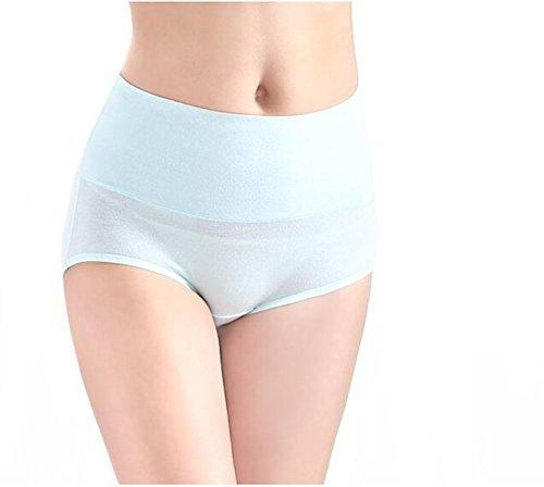 POKWAI 4 Bolsas De La Ropa Interior De Las Mujeres De Cintura Alta Puestos De Algodón Algodón Abdomen Algodón Pantalones A1