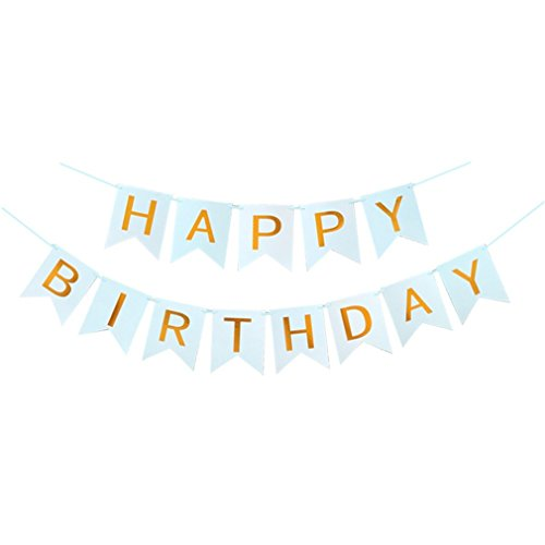 1Set Paper Happy Birthday Banner Party Decorations Kids Garland Children Baby Boy Girl Child Bunting Adult Favors Supplies 3M Blue]()