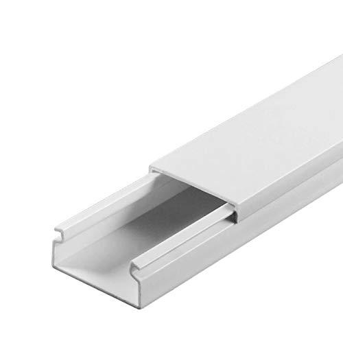 SCOS Smartcosat SCOSKK36 10 m Kabelkanal (L x B x H 2000 x 20 x 13 mm, PVC, Kabelleiste, Selbstklebend) weiß