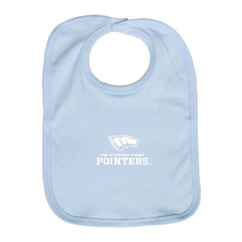 UW Stevens Point Light Blue Baby Bib 'Official Logo' by CollegeFanGear