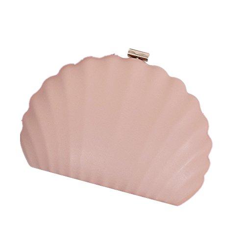 Forme et discothèques Cuir en PU de à pour Shell Sac Longue Pink de d'embrayage Miss Bal fête bandoulière Joy chaîne Main à Sac Mariage Ex0qwARXp