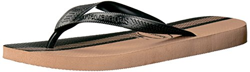 Havaianas Men's Flip Flop Sandals, Conceitos , Rose Gold/Black,39/40 BR (8 M US)
