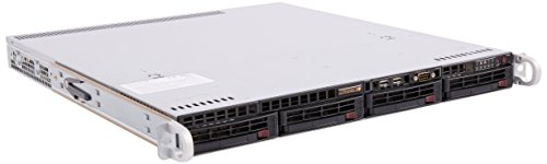 Supermicro SuperServer LGA1150 350W 1U Rackmount Server Barebone System, Black SYS-5018D-MTLN4F by Supermicro