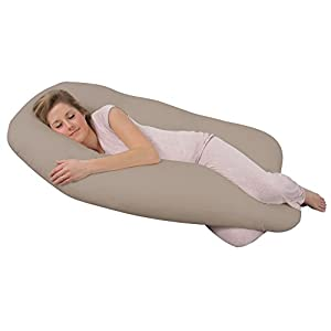 Leachco Back 'N Belly Original Contoured Body Pillow, Tea