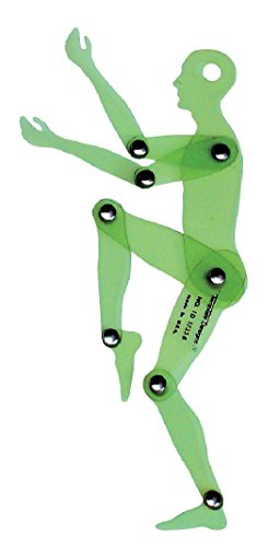 Jack Richeson Human Figure Positioning Template, 6-3/4 in, Green
