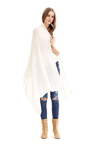 NAKEDCASHMERE Women's Karlie Wrap O/S Chalk by NAKEDCASHMERE
