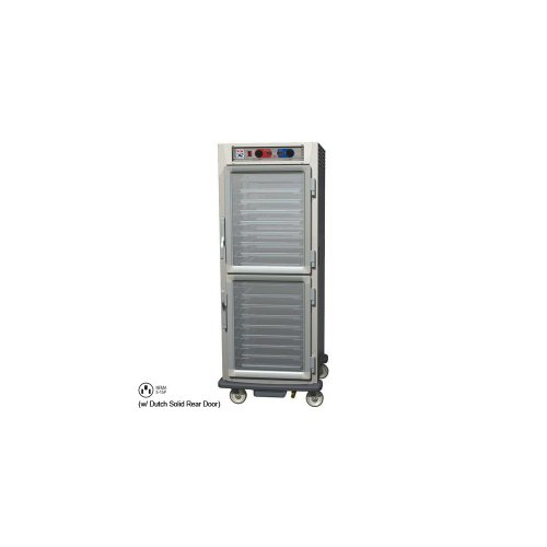 - Metro C599L-SDC-LPDS C5 9 Series Pass-Thru Heated Holding Cabinet, Full Height, Stainless Steel, Dutch Clear Doors/Dutch Solid Doors, Lip Load Aluminum Slides