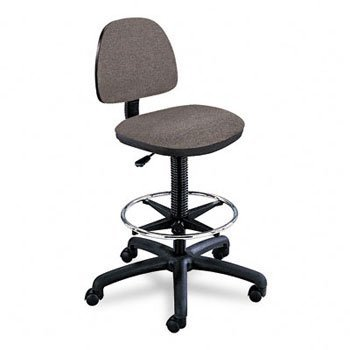 Safco® Precision Extended Height Swivel Stool with Adjustable Footring STOOL,DRFT,PNEU,FT.RG,DGY (Pack of2)