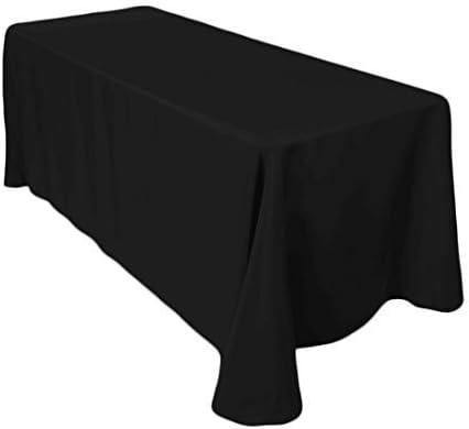WedDecor Negro Mantel Rectangular de algodón y poliéster para decoración de Bodas, Banquetes, cenas y Fiestas de cumpleaños, 90 x 132 Pulgadas, Paquete de 10: Amazon.es: Hogar