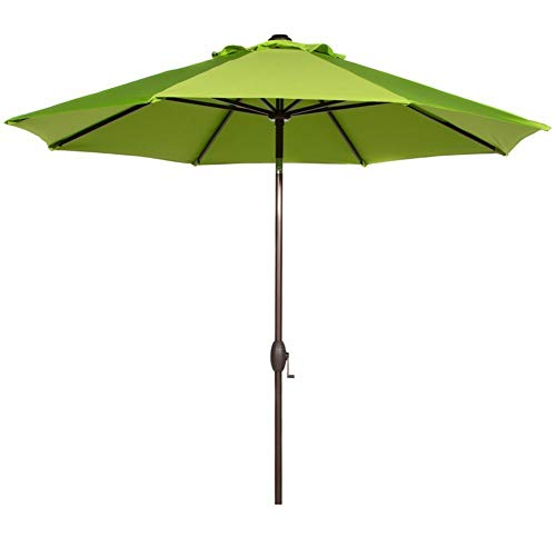 Abba Patio Outdoor Patio Market Table Umbrella with Auto Tilt and Crank, 9 Feet, Lime Green