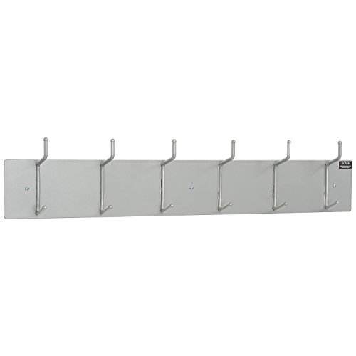 36-1/2''W Wall Mounted Coat Rack - Silver by Global Industrial