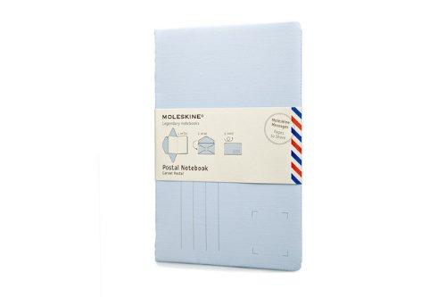 Moleskine Messages Postal Notebook, Pocket, Plain, Iris Blue, Soft Cover (3.5 x 5.5) (Postal Notes/Note Cards)
