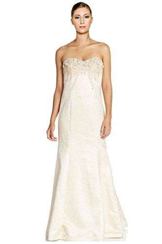 Teri Jon Embellished Beaded Strapless Evening Ball Gown Dress